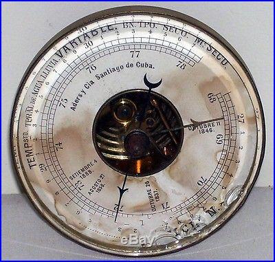 Vintage Marine Ship Barometer Santiago Cuba