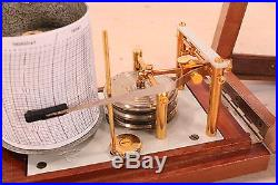 Vintage Maxant Paris Barograph/Barometer Gold Plated Parts Montreuil 93100