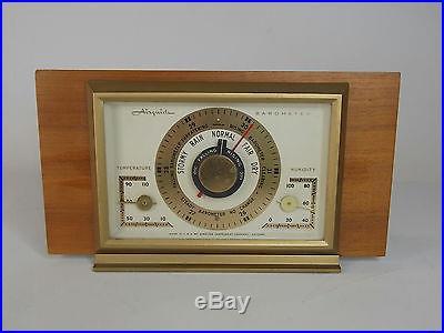 Vintage Mid-century dsek barometer airguide, USA Made #228