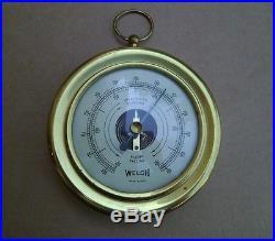 Vintage Orginal Welch Barometer US Made