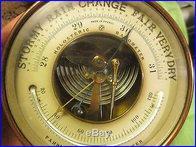 Vintage PHBN Holosteric Barometer w/ Thermometer France Nice No Reserve