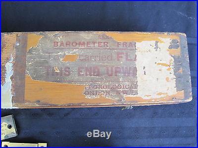 Vintage SHIP'S BAROMETER by NEGRETTI & ZAMBRA London w/Gimballed Bracket +BOX