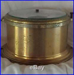 Vintage Schatz Mariner Brass Compensated Ship Barometer Thermometer