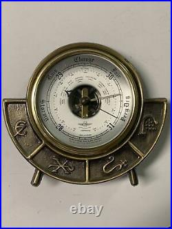 Vintage Shortland SB Compensated Barometer with Alchemy Symbols Brass England