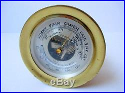 Vintage Small Chelsea Brass Holosteric Barometer