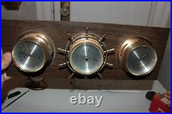 Vintage Springfield Barometer x3 Thermometer Humidity Meter S7