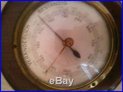 Vintage Sturm Veranderlich Bestanding wood barometer
