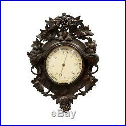 Vintage Swiss Carved Barometer