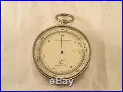Vintage TAYLOR Lg. Metal Cased Field Engineering, Surveying Barometer Altimeter