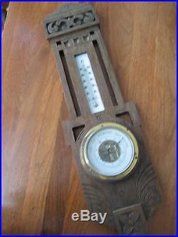 Vintage Wall Wood Lufft Barometer European Swedish Dial Ostadigt Antique Sweden
