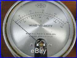 Vintage Wind Velocity Airguide Barometer Gauge Set Wilfred O. White Wall Mounted