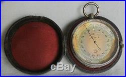 Vintage antique rare pocket barometer JUNGHANS 1900-10 with original case