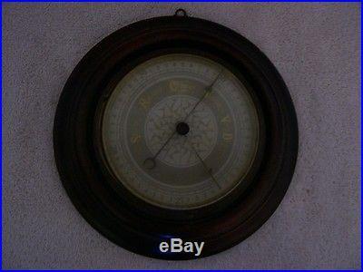 Vintage german wood & brass barameter