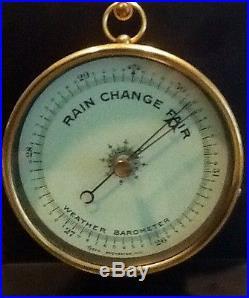 Vintage red brass Tycos marine Barometer ca. 1922. Chelsea Clock