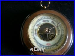 Vtg Atco German Mahogany Wood Barometer weather nautical