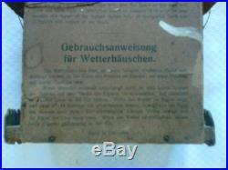 Vtg Black Forest German Barometer/Weather House Thermometer Wood/Compostion NR