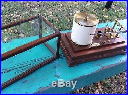 W E Hadlock & Co. Boston Mass Early Barometer scientific Weather Barograph