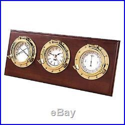 Weems & Plath Porthole Weather Center 312800 Boat Barometer NEW